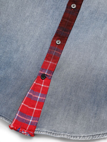 Diesel - D-DEEPCHECK-A, Bleu/Rouge - Chemises en Denim - Image 5