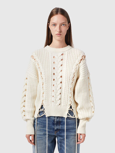 Pull avec lacets Green Label