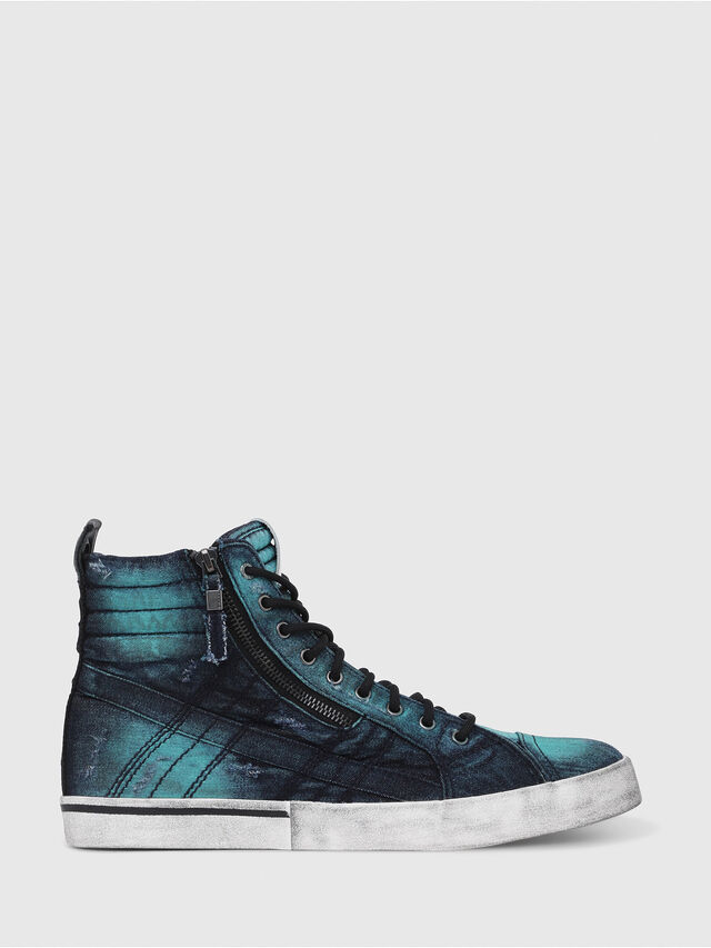 Diesel - D-VELOWS MID LACE, Turquoise - Baskets - Image 1