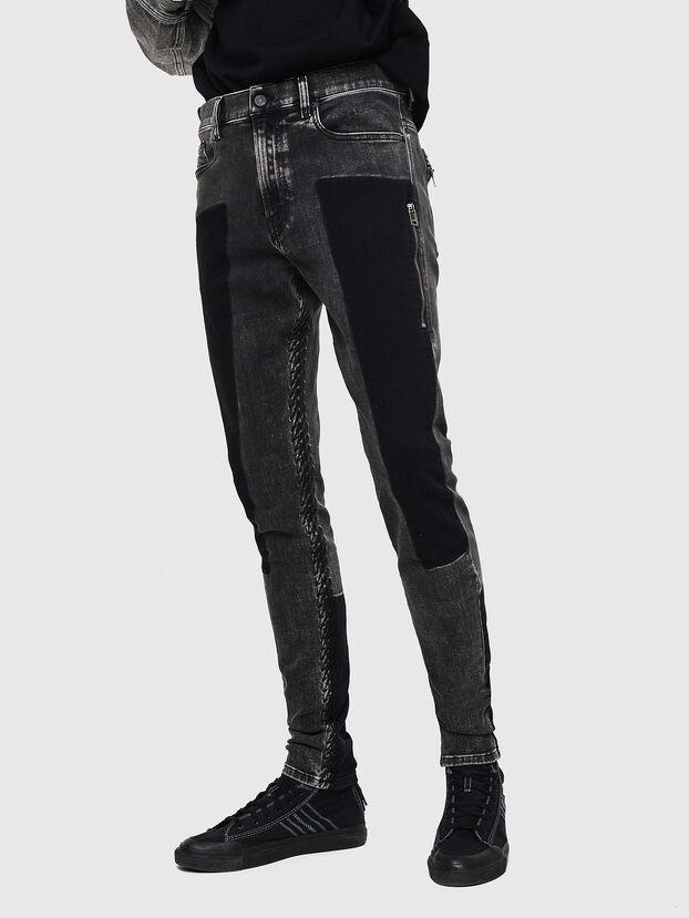 D-Amny 0890T, Noir/Gris foncé - Jeans