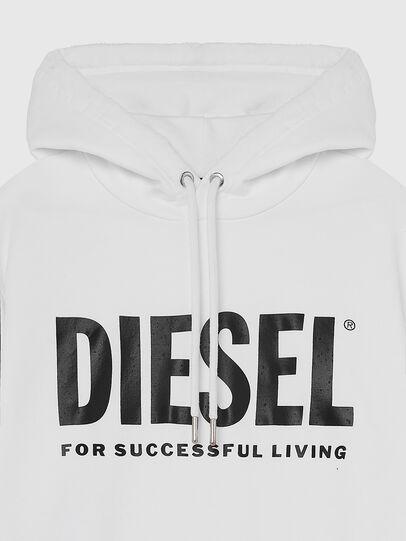 Diesel - S-GIR-HOOD-DIVISION-, Blanc - Pull Cotton - Image 3