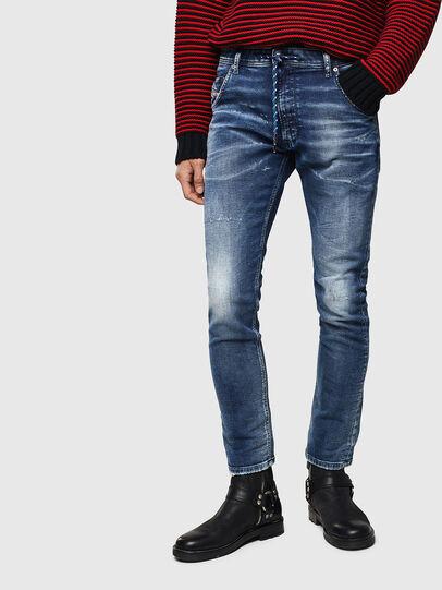 Diesel - Krooley JoggJeans 0096M, Bleu Foncé - Jeans - Image 1