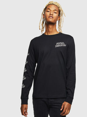 T-DIEGO-LS-J1, Noir - T-Shirts