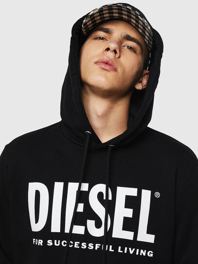 Diesel - S-GIR-HOOD-DIVISION-, Noir - Pull Cotton - Image 3
