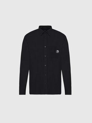 S-BILL-POCKET, Noir - Chemises