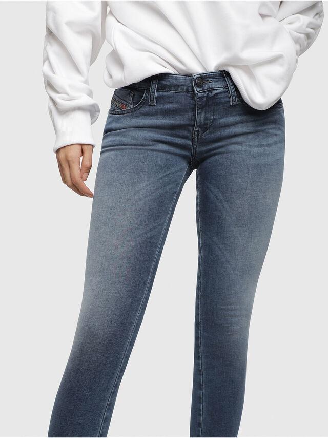 Diesel - Skinzee Low Zip 0681P, Bleu moyen - Jeans - Image 3