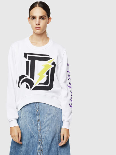 Diesel - F-LYANYDY-A, Blanc - Pull Cotton - Image 1