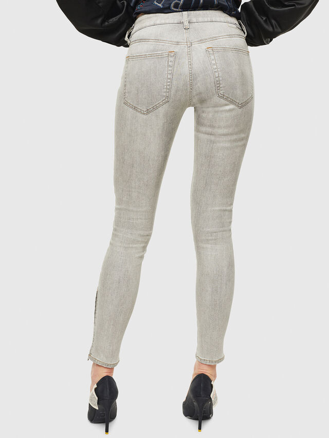 Diesel - Slandy Zip 086AE, Gris Clair - Jeans - Image 2