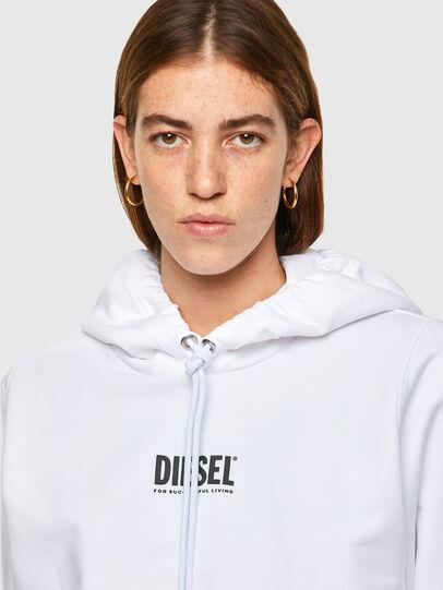 Diesel - F-ANG-HOOD-SMALLOGO, Blanc - Pull Cotton - Image 3