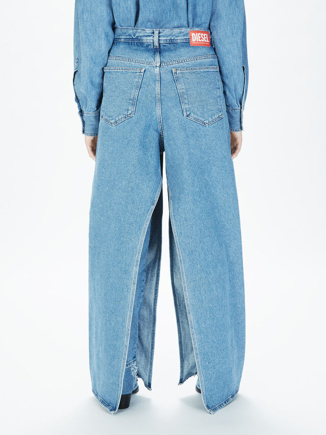 Diesel - SOWL01, Bleu Clair - Pantalons - Image 4