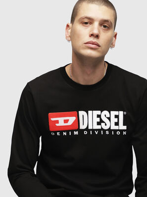 T-JUST-LS-DIVISION, Noir - T-Shirts