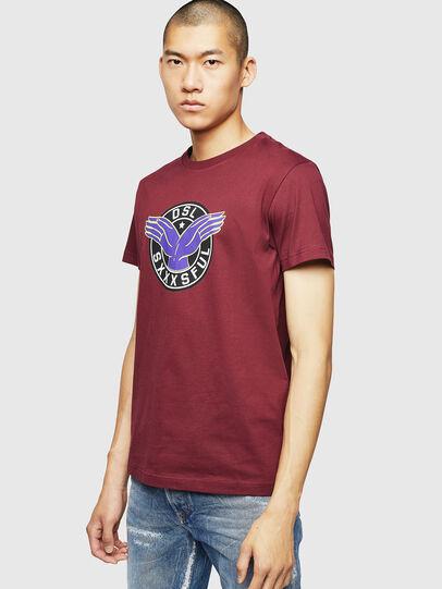 Diesel - T-DIEGO-B5, Bordeaux - T-Shirts - Image 1