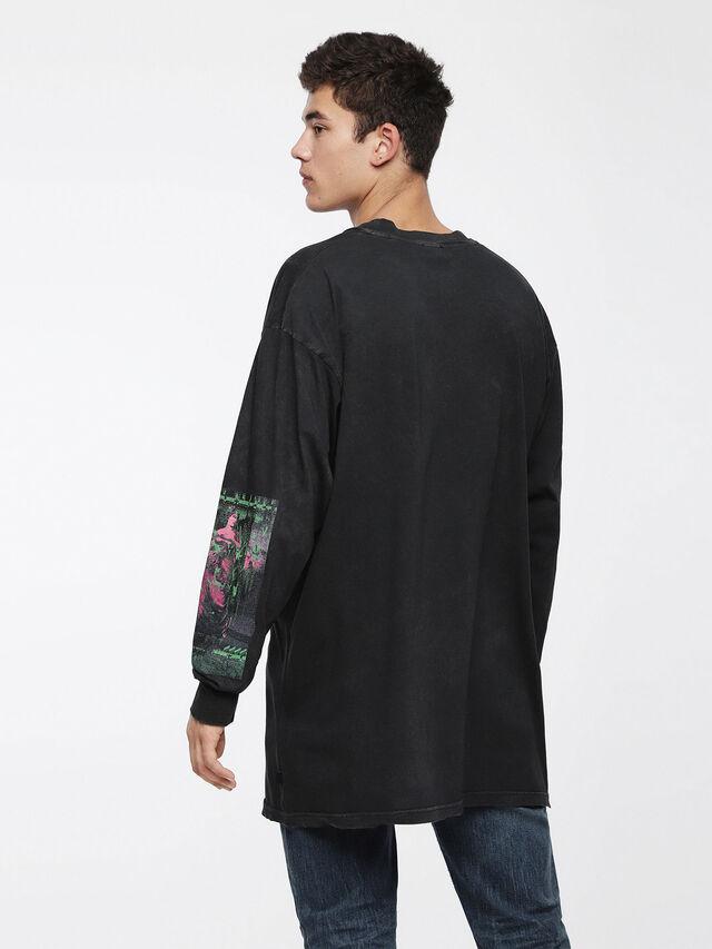 Diesel T-LUCAS-LS-XF, Noir - T-Shirts - Image 2