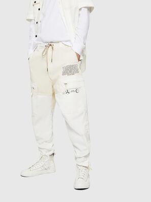P-LUKK, Blanc - Pantalons