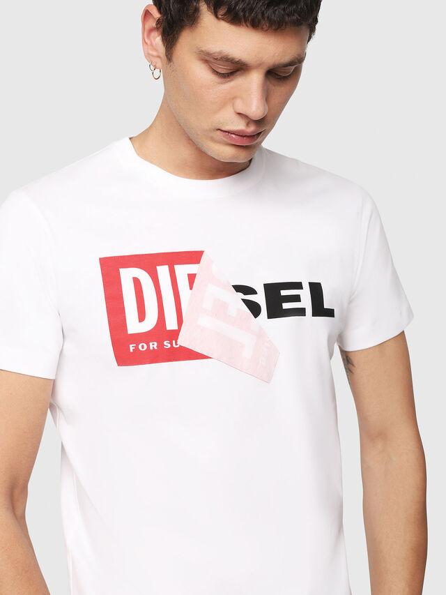 Diesel T-DIEGO-QA, Blanc - T-Shirts - Image 3