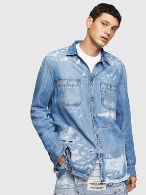 D-FRED, Bleu Clair - Chemises en Denim