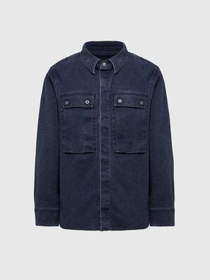 D-VERSO, Bleu Foncé - Chemises en Denim