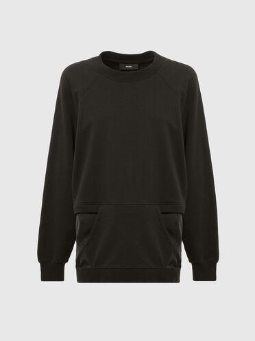 Sweat-shirt avec ouverture zippée