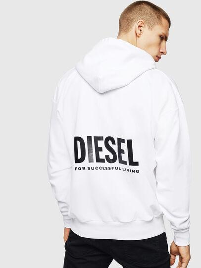 Diesel - LR-S-GIRK-HOOD-VIC, Blanc - Pull Cotton - Image 2