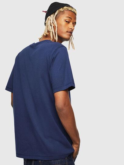 Diesel - CC-T-JUST-COLA, Bleu Foncé - T-Shirts - Image 3