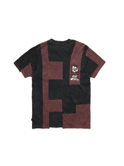 Diesel - D-FRANK&STEIN, Rouge/Noir - T-Shirts - Image 2