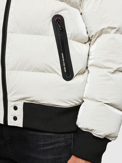 Diesel - W-ON-A, Blanc - Vestes d'hiver - Image 5