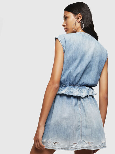 Diesel - DE-AVA, Bleu Clair - Robes - Image 2