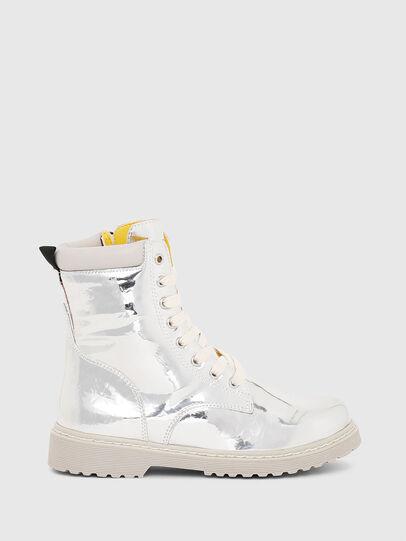 Diesel - HB LACE UP 04 YO, Gris argenté - Footwear - Image 1