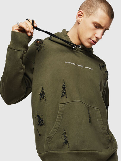 Diesel - S-ALBY-RIP, Vert Militaire - Pull Cotton - Image 3