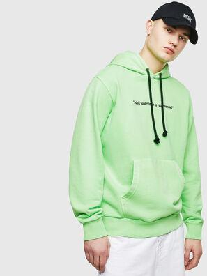 S-GIRK-HOOD-FLUO, Vert Fluo - Pull Cotton