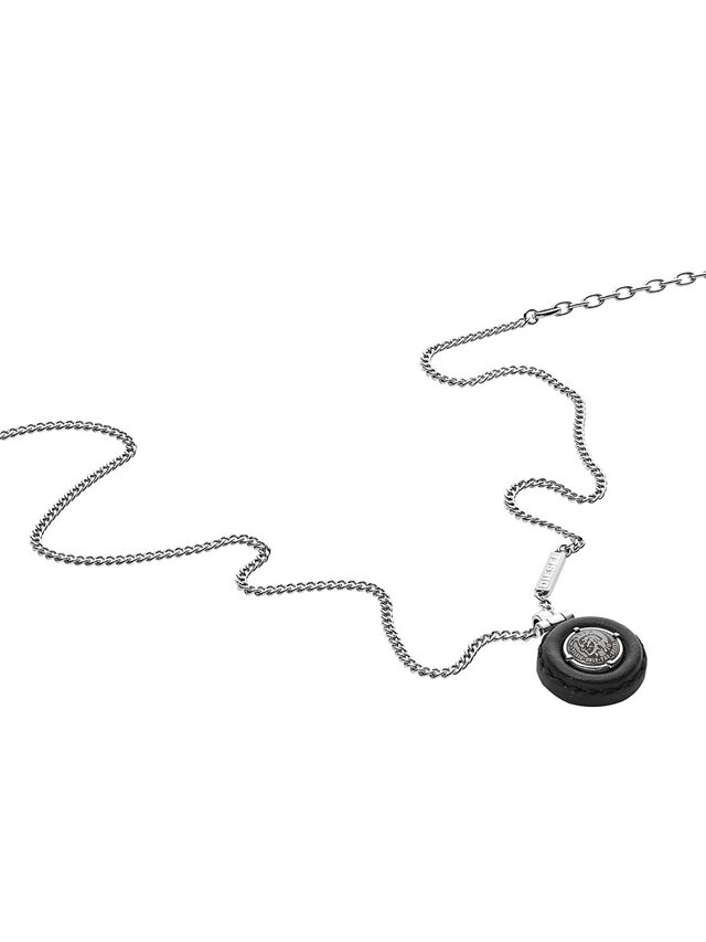 Diesel - NECKLACE DX1022, Gris argenté - Colliers - Image 2