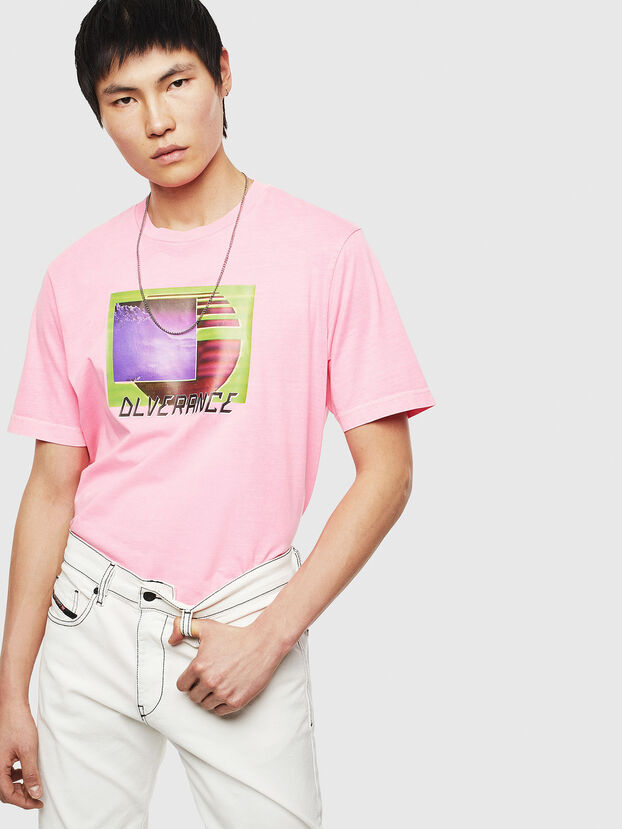 T-JUST-NEON-S1, Rose - T-Shirts
