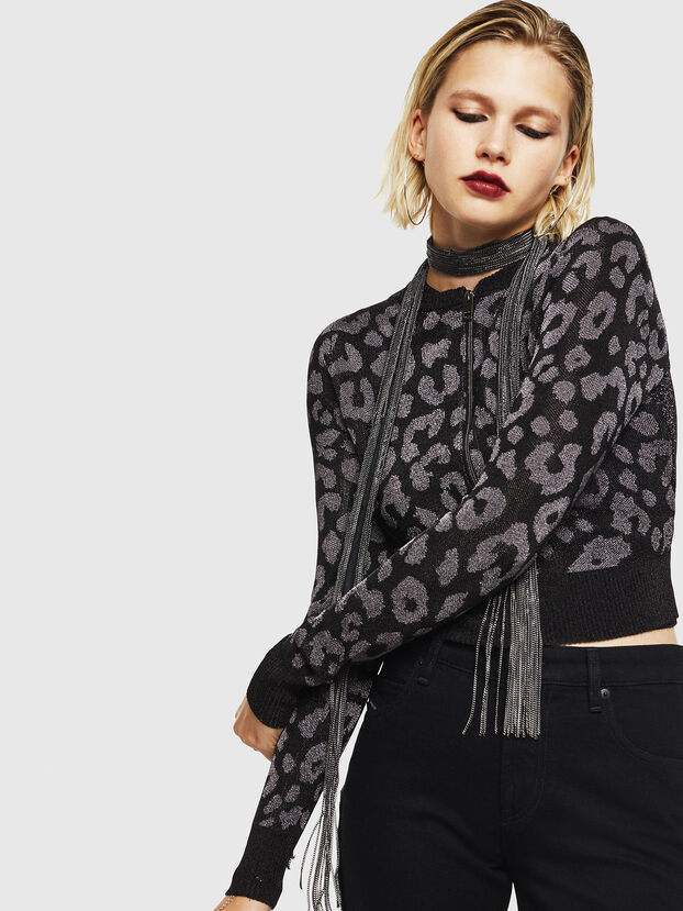 M-SETTY, Noir - Pull Maille