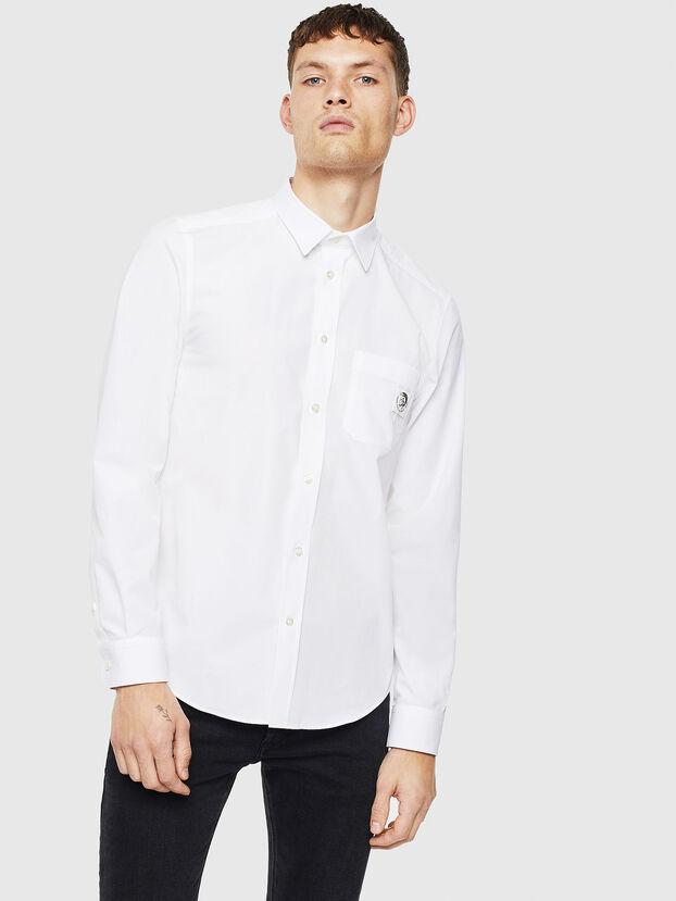 S-BILL-POCKET, Blanc - Chemises