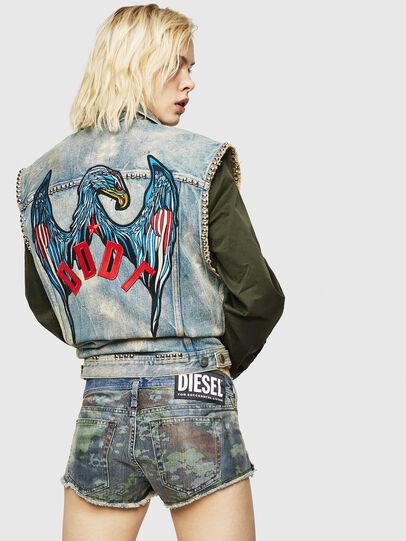 Diesel - DE-MARLEN, Bleu moyen - Shorts - Image 2