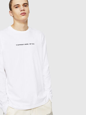 T-JUST-LS-COPY, Blanc - T-Shirts