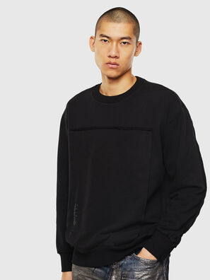 S-BAY-RAW, Noir - Pull Cotton