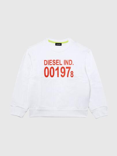 Diesel - SGIRKJ3 OVER, Blanc - Pull Cotton - Image 1