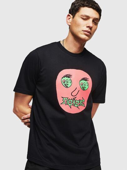 Diesel - T-JUST-B27, Noir - T-Shirts - Image 1