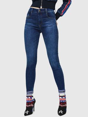 Slandy High 089AJ, Bleu Foncé - Jeans