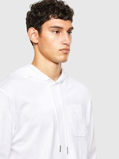 Diesel - T-FONTAL-LS-HOOD, Blanc - T-Shirts - Image 3