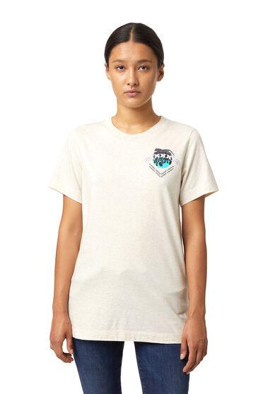 T-shirt teint par pigmentation avec imprimé