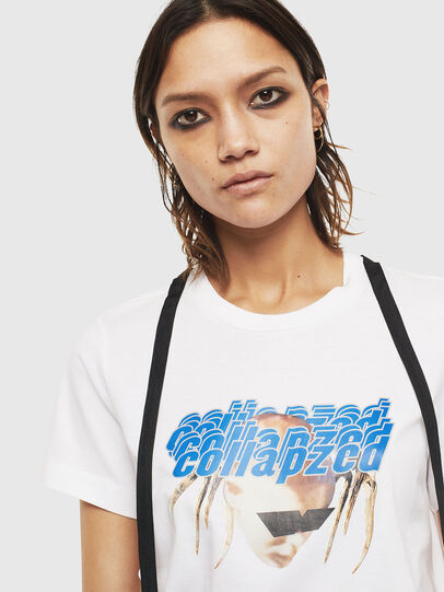 Diesel - T-SILY-S3, Blanc - T-Shirts - Image 3