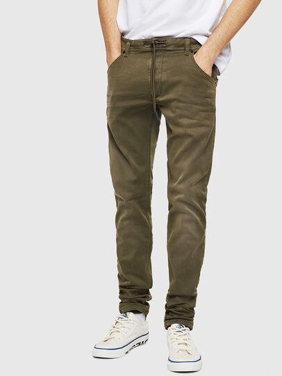 Diesel - Krooley Long JoggJeans 0670M, Vert Militaire - Jeans - Image 1