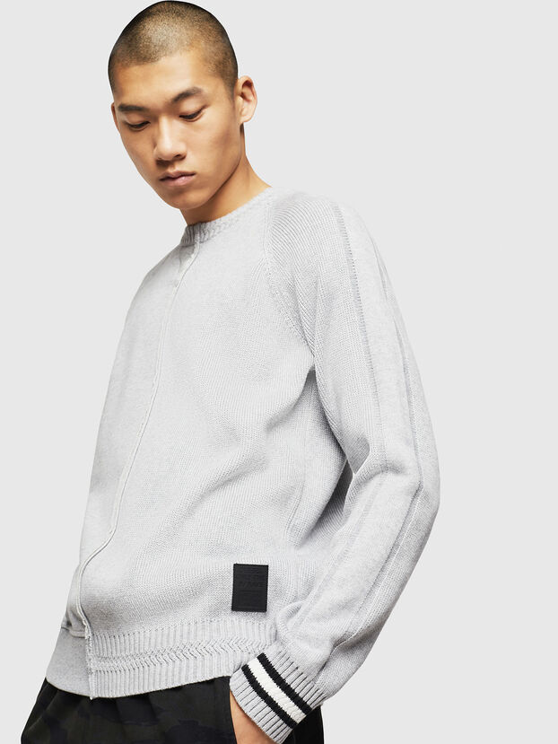 K-BOX, Gris Clair - Pull Maille