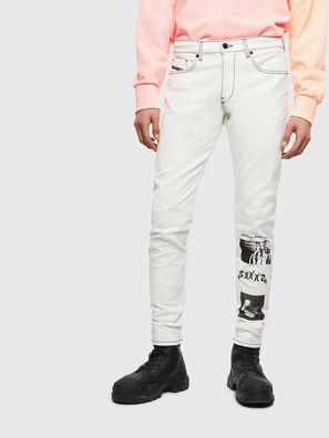 D-Strukt 009BF, Blanc - Jeans