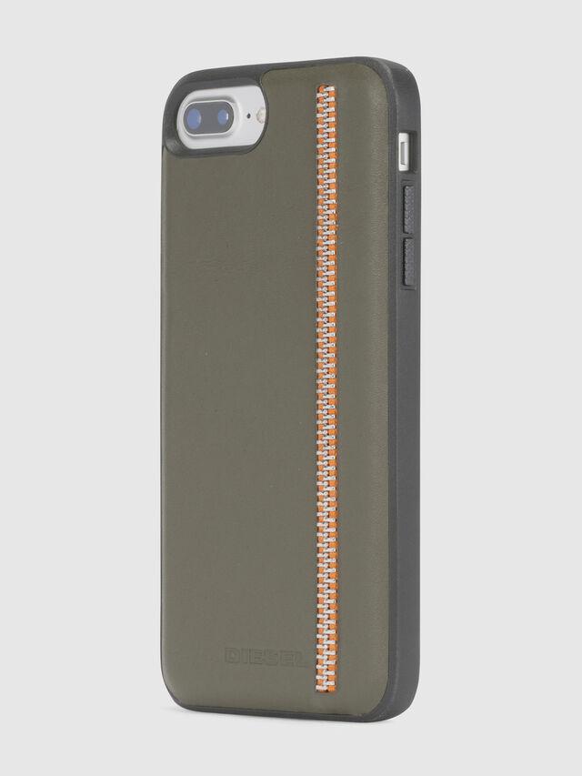 ZIP OLIVE LEATHER IPHONE 8 PLUS/7 PLUS/6s PLUS/6 PLUS CASE, Vert Olive