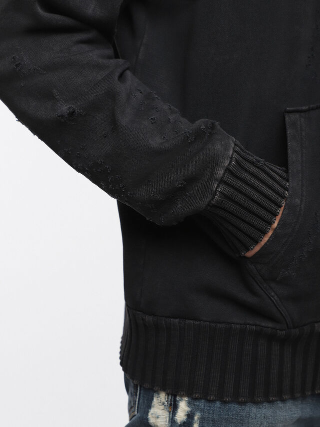 Diesel - S-STAPP, Noir - Pull Cotton - Image 3