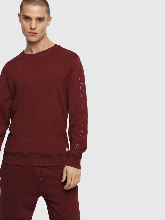 Diesel - UMLT-WILLY, Bordeaux - Pull Cotton - Image 1