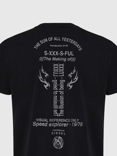 Diesel - T-DIEBIND, Noir - T-Shirts - Image 4